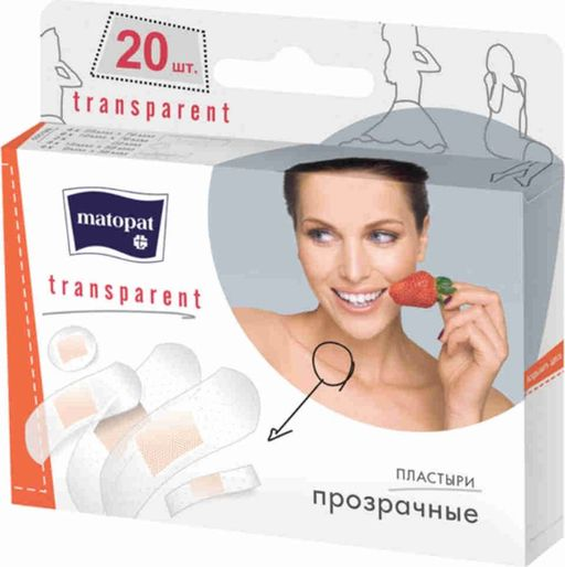 Matopat Transparent Пластырь набор, пластырь в комплекте, 20 шт. цена