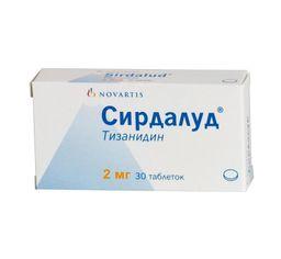 Сирдалуд, 2 мг, таблетки, 30 шт.