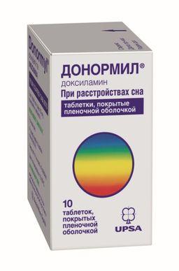 Донормил, 15 мг, таблетки, покрытые пленочной оболочкой, 10 шт.