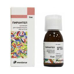 Пирантел, 250 мг/5 мл, суспензия для перорального применения, 15 мл, 1 шт.