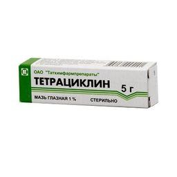 Тетрациклин глазная мазь, 1%, мазь глазная, 5 г, 1 шт.