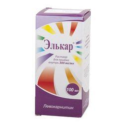 Элькар, 300 мг/мл, раствор для приема внутрь, 100 мл, 1 шт.