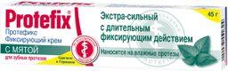 Протефикс крем фиксирующий, крем для фиксации зубных протезов, с мятой, 40 г, 1 шт.