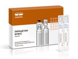 Пирацетам буфус, 200 мг/мл, раствор для внутривенного и внутримышечного введения, 5 мл, 10 шт.