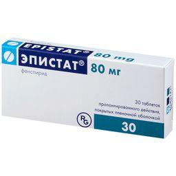 Эпистат, 80 мг, таблетки пролонгированного действия, покрытые пленочной оболочкой, 30 шт.
