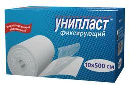 Унипласт пластырь фиксирующий, 10х500, пластырь медицинский, на основе сетчатого нетканого материала, 1 шт.