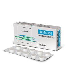 Фолацин, 5 мг, таблетки, 30 шт.