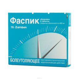 Фаспик, 400 мг, таблетки, покрытые оболочкой, 6 шт.