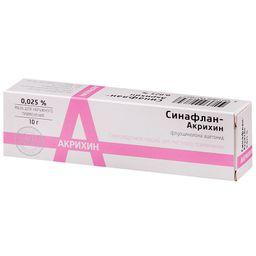 Синафлан-Акрихин, 0.025%, мазь для наружного применения, 10 г, 1 шт.