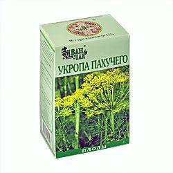 Укропа пахучего плоды, лекарственное растительное сырье, 50 г, 1 шт.
