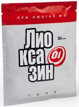 Лиоксазин гель, повязка, 30 г, 1 шт.