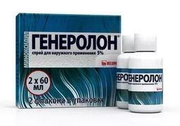 Генеролон, 5%, спрей для наружного применения, 60 мл, 2 шт.