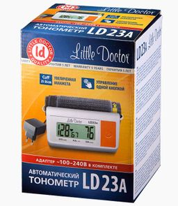 Тонометр автоматический Little Doctor LD23A, с адаптером, 1 шт.