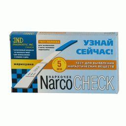 Тест на наркотики NarcoCheck Марихуана, тест-полоска, 1 шт.