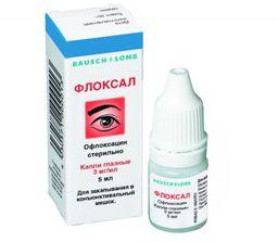 Флоксал, 0.3%, капли глазные, 5 мл, 1 шт.