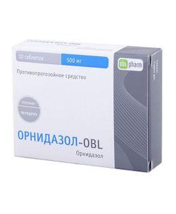 Орнидазол-OBL, 500 мг, таблетки, покрытые пленочной оболочкой, 10 шт.