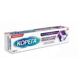 Корега Максимальное прилегание Крем для фиксации зубных протезов, крем для фиксации зубных протезов, 40 г, 1 шт.