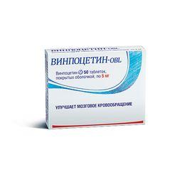 Винпоцетин-OBL, 5 мг, таблетки, покрытые оболочкой, 50 шт.