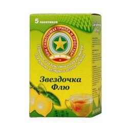 Звездочка Флю, порошок для приготовления раствора для приема внутрь, лимонные(ый), 15 г, 5 шт.