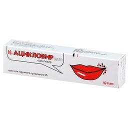 Ацикловир Белупо, 5%, крем для наружного применения, 10 г, 1 шт.