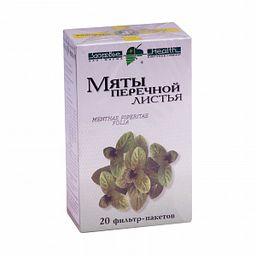 Мяты перечной листья, сырье растительное-порошок, 1.5 г, 20 шт.