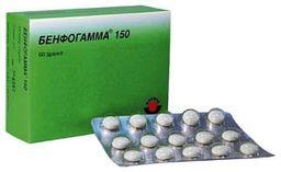 Бенфогамма 150, 150 мг, таблетки, покрытые оболочкой, 60 шт.