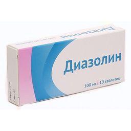 Диазолин, 100 мг, таблетки, 10 шт.