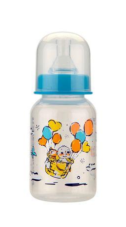 Курносики бутылочка с силиконовой соской 0+, 125 мл, арт. 11142, с рисунком, в ассортименте, с силиконовой соской, 1 шт.