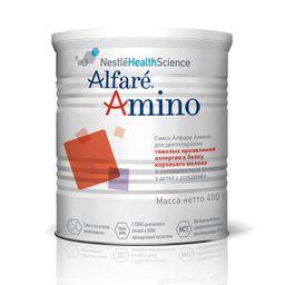 Alfare Amino смесь гипоаллергенная для детей с рождения, при тяжелых проявлениях аллергии к белку коровьего молока, 400 г, 1 шт.