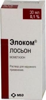 Элоком Лосьон, 0.1%, раствор для наружного применения, 30 мл, 1 шт.