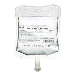 Натрия хлорид, 0.9%, раствор для инфузий, 250 мл, 28 шт.