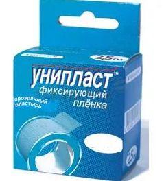 Унипласт пластырь фиксирующий, 5х500, пластырь медицинский, на основе медицинской пленки, 1 шт.