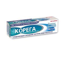 Корега Крем для фиксации зубных протезов, крем для фиксации зубных протезов, Экстра сильный мятный, 40 мл, 1 шт.