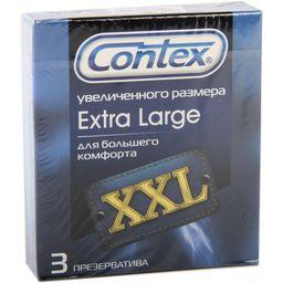 Презервативы Contex Extra Large, презерватив, увеличенного размера, 3 шт.