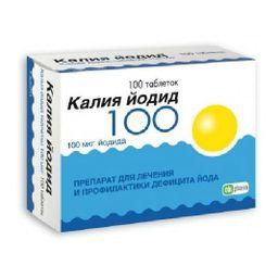 Калия йодид, 0.1 мг, таблетки, 100 шт.