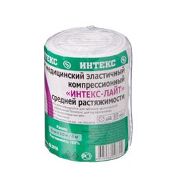 Интекс-Лайт Бинт эластичный компрессионный, 8 см х 3 м, средней растяжимости, 1 шт.