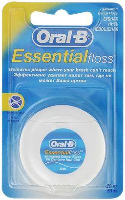 Oral-B Essential Floss Зубная нить невощеная, 50 м, нити зубные, 1 шт.