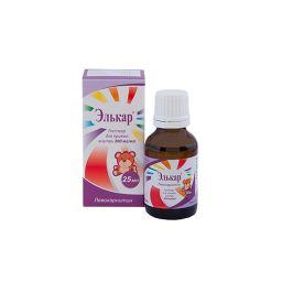 Элькар, 300 мг/мл, раствор для приема внутрь, 25 мл, 1 шт.